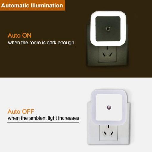 veilleuse automatique carrée convient pour une chambre ou un corridor