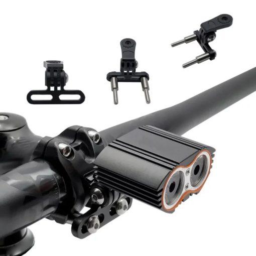 support nain reglable pour lampe ou caméra fixation à l'avant de la potence matière alu