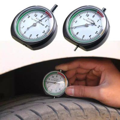 jauge de profondeur pour pneu précis et facile a utiliser indicateurs 3 couleurs.vert bon,jaune moyen,rouge pneus a remplacer