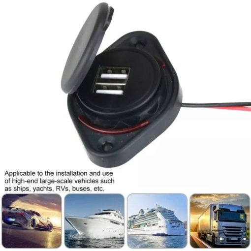 connecteur USB double plateforme étanche et robuste couvercle de protection