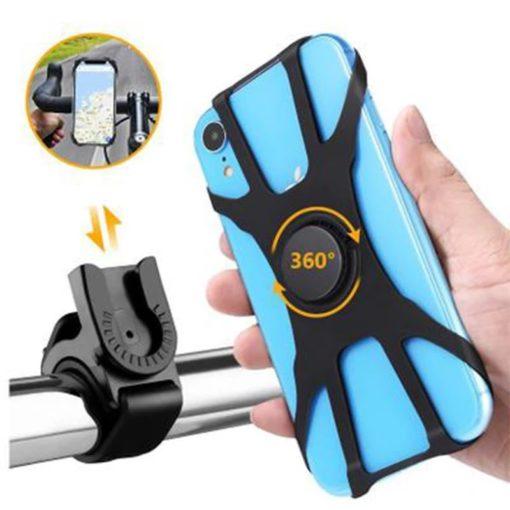 support smartphon fixation rapide par glissement rotation 360°