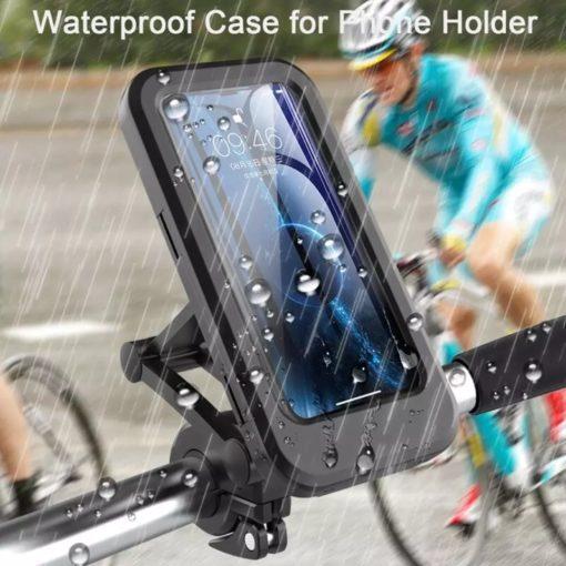 support 2 roues télescopique, étanche , amovible rotation 360° pour tout types de smartphones