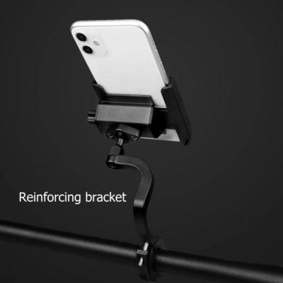 support type S surélevé matière aluminium robuste fixation au guidon couleur noir