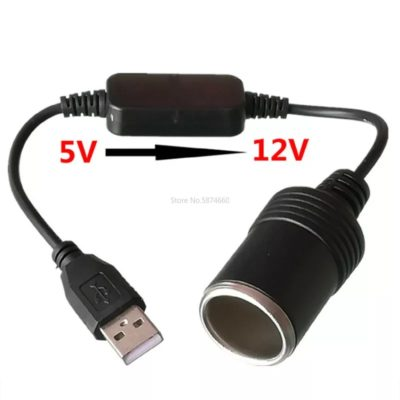 prise USB transformateur 5volt vers 12volt allume cigare fonctionne dans le véhicule ou avec une batterie portative